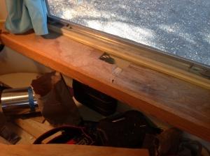 Shelf with water damage